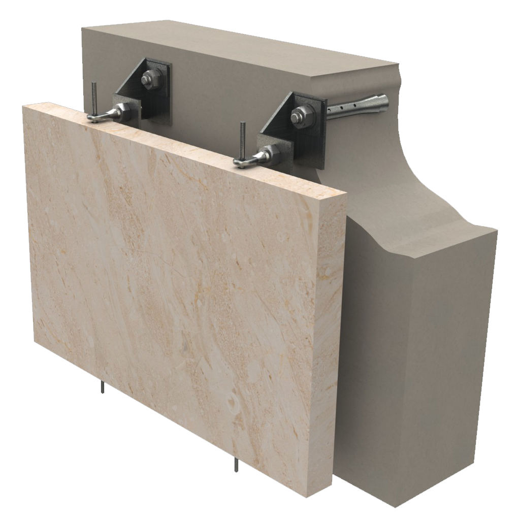 mekanik askı sistemleri ankraj cephe mermer askı sistemi taş askı sistemleri granit dış cephe
